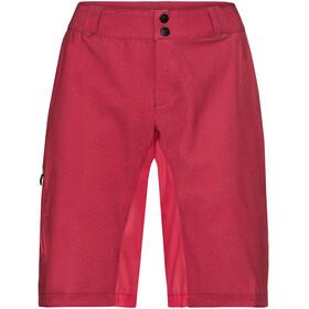 VAUDE Ligure - Culotte corto sin tirantes Mujer - rojo